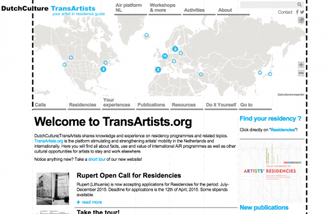 Transartists website