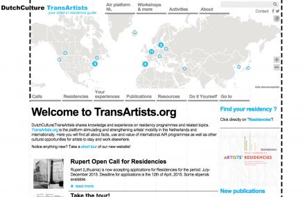 Transartists website